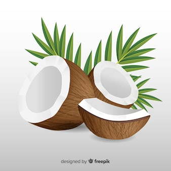 Hand drawn coconut background