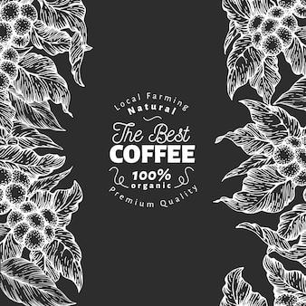 손으로 그린 된 커피 디자인 서식 파일입니다.