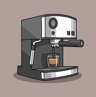 Hand drawn of a coffee machine