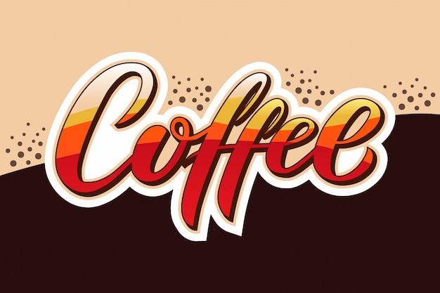 Hand drawn coffee text