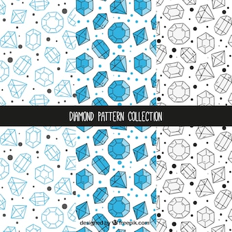 Hand-drawn collection of diamond patterns