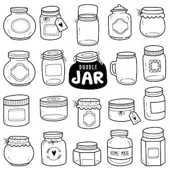 Hand-drawn collection: jars