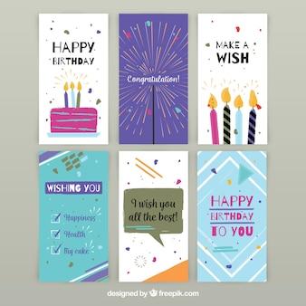 Ручная коллекция из шести поздравительных открыток