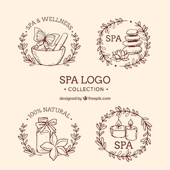 Ручная коллекция спа-логотипов