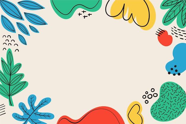 손으로 그린 다채로운 추상 모양 배경