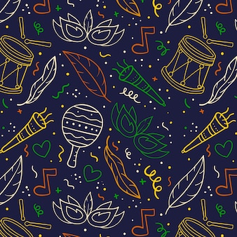 Hand drawn colorful carnival pattern