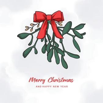 Hand drawn colorful christmas card