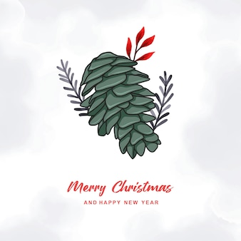 Hand drawn colorful christmas card a