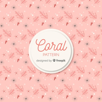 Hand drawn colorful coral background