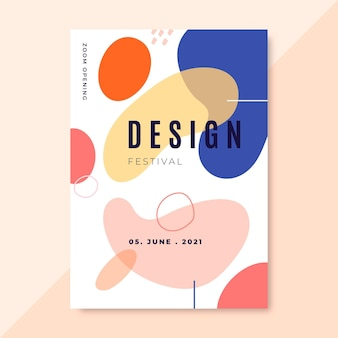 Hand drawn colorful design posters