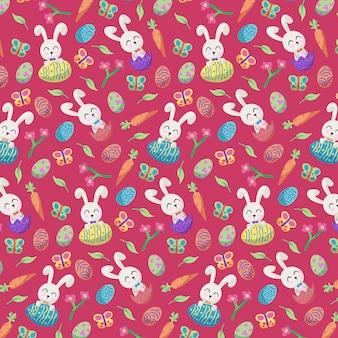 손으로 그린 된 다채로운 부활절 패턴