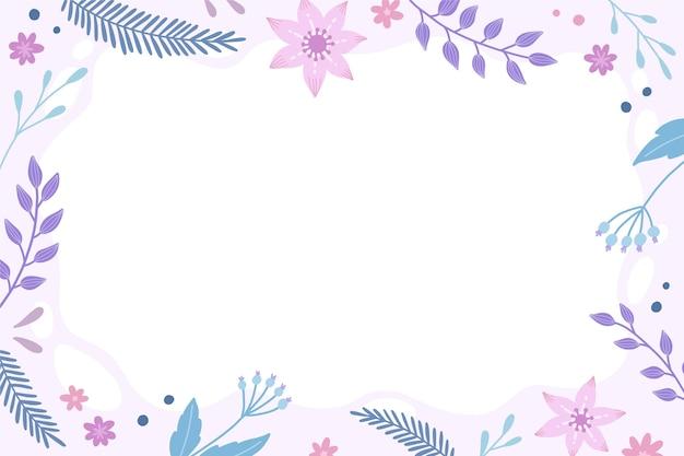 Ручной обращается красочный цветочный фон