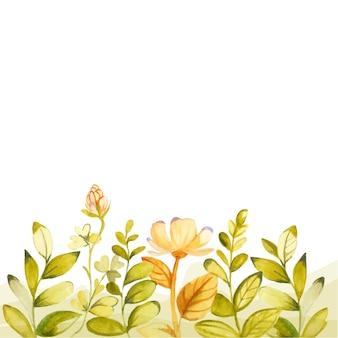 手描きのカラフルな花柄