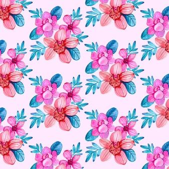 손으로 그린 화려한 꽃무늬 디자인