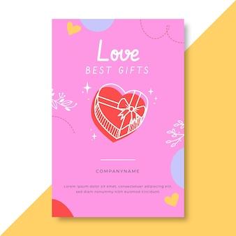 手描きのカラフルな愛のブログ投稿