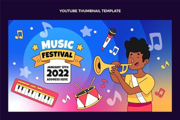 손으로 그린 다채로운 음악 축제 youtube 미리보기 이미지