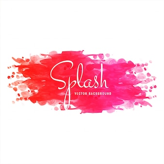 Hand drawn colorful soft watercolor splash