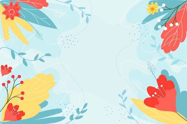 Hand drawn colorful spring background