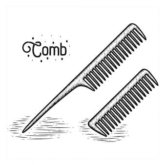 Hand drawn comb