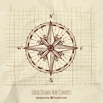 Hand drawn compass