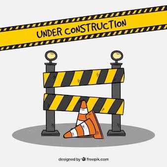 Hand drawn under construction background