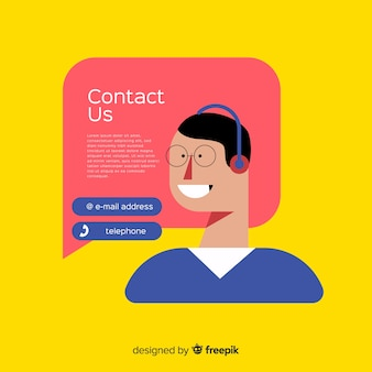 Hand drawn contact information background template