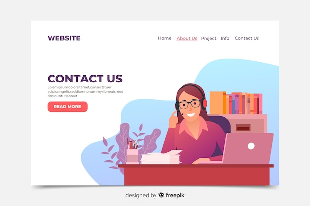 Hand drawn contact us landing page