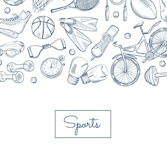 Hand drawn contoured sports equipment