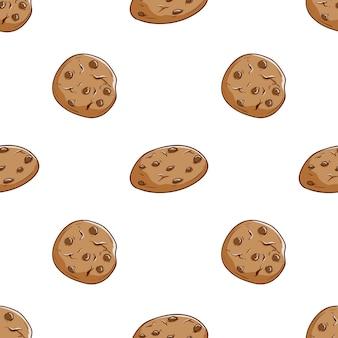 手描きのクッキーのシームレスなパターン