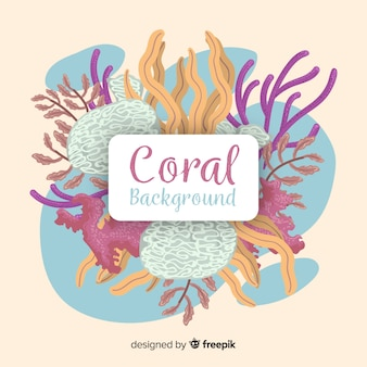 Hand drawn coral background