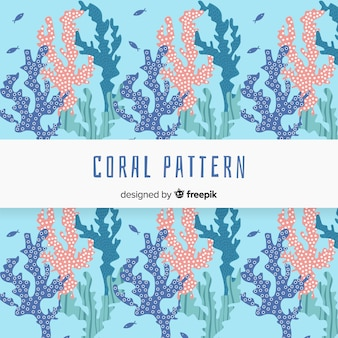 Hand drawn coral pattern