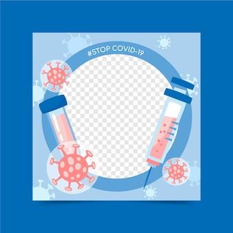 Hand drawn coronavirus facebook frame