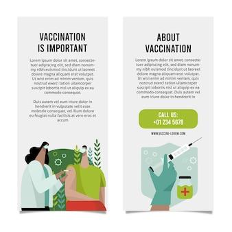 手描きのコロナウイルスワクチン接種の有益なパンフレット