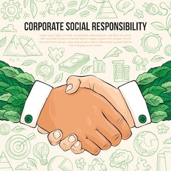 Hand drawn corporate social responsibility concept