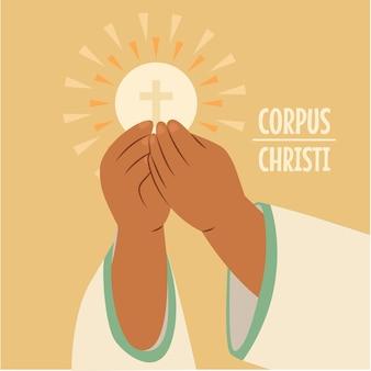 Illustrazione disegnata a mano del corpus christi