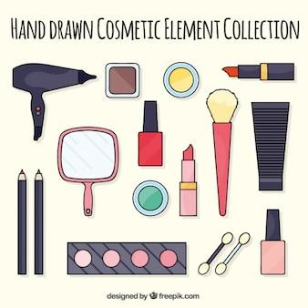 手描き化粧品要素のコレクション