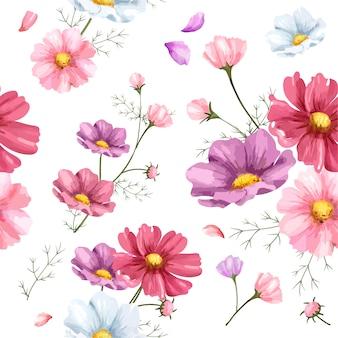 手描きの宇宙の花のパターン