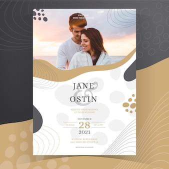 Hand drawn creative wedding invitation template