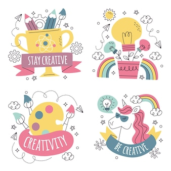 Коллекция наклеек для творчества