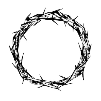 Hand-drawn crown of thorns