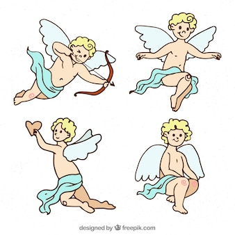 Hand drawn cupid characther collection