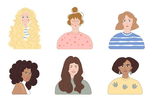 Типы рисованной вьющиеся волосы