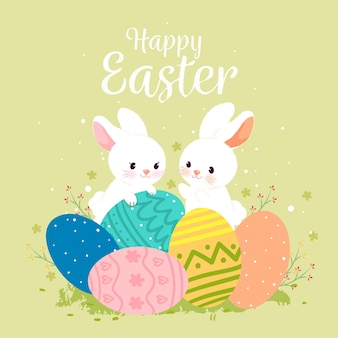 Hand drawn cute easter illustration