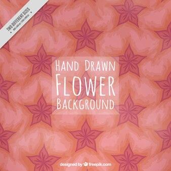 손으로 그린 귀여운 꽃 배경