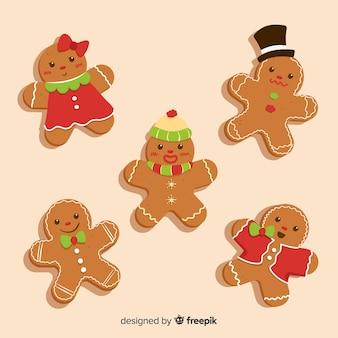 손으로 그린 귀여운 진저 쿠키
