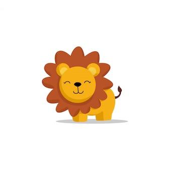 Hand drawn cute lion