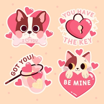 Hand drawn cute love collection