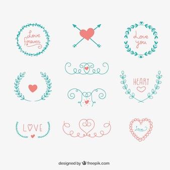 Disegnati a mano ornamenti carino