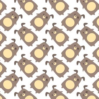 Hand drawn cute pug with pattern vector