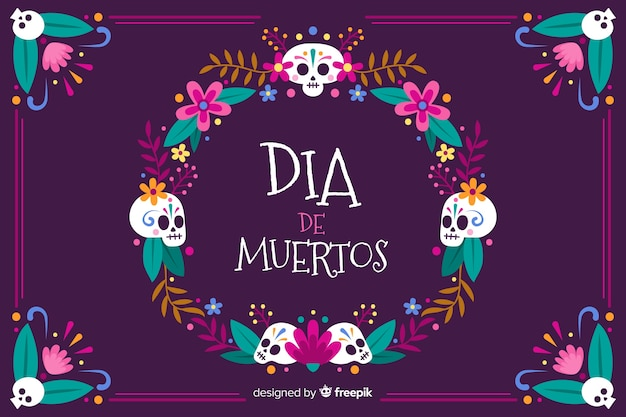 Hand drawn day of the dead background